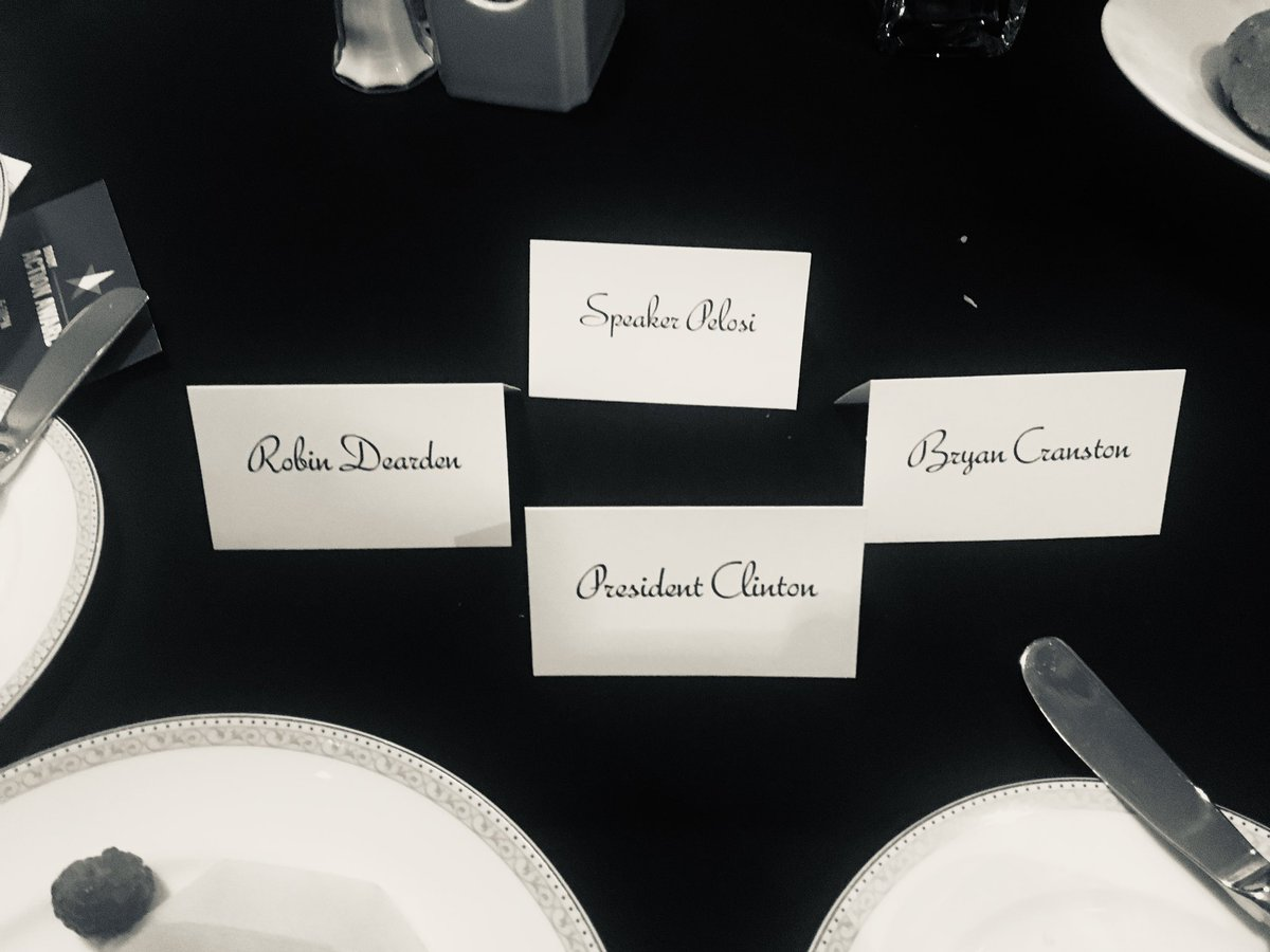 Table mates at the Brady Gun Violence Prevention fundraiser last night in DC.
