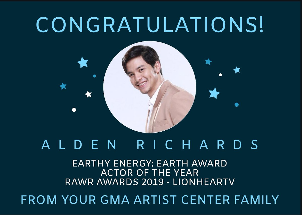 Asia's Multimedia Star #AldenRichards receives Actor of the Year for #HelloLoveGoodbye and the Earth Award -- 'Wherever and whenever circumstance he is in, like a seed, he can grow and succeed' at @LionhearTVNet's #RAWRAwards2019. Congratulations!<br>http://pic.twitter.com/2r1S9v8yhW