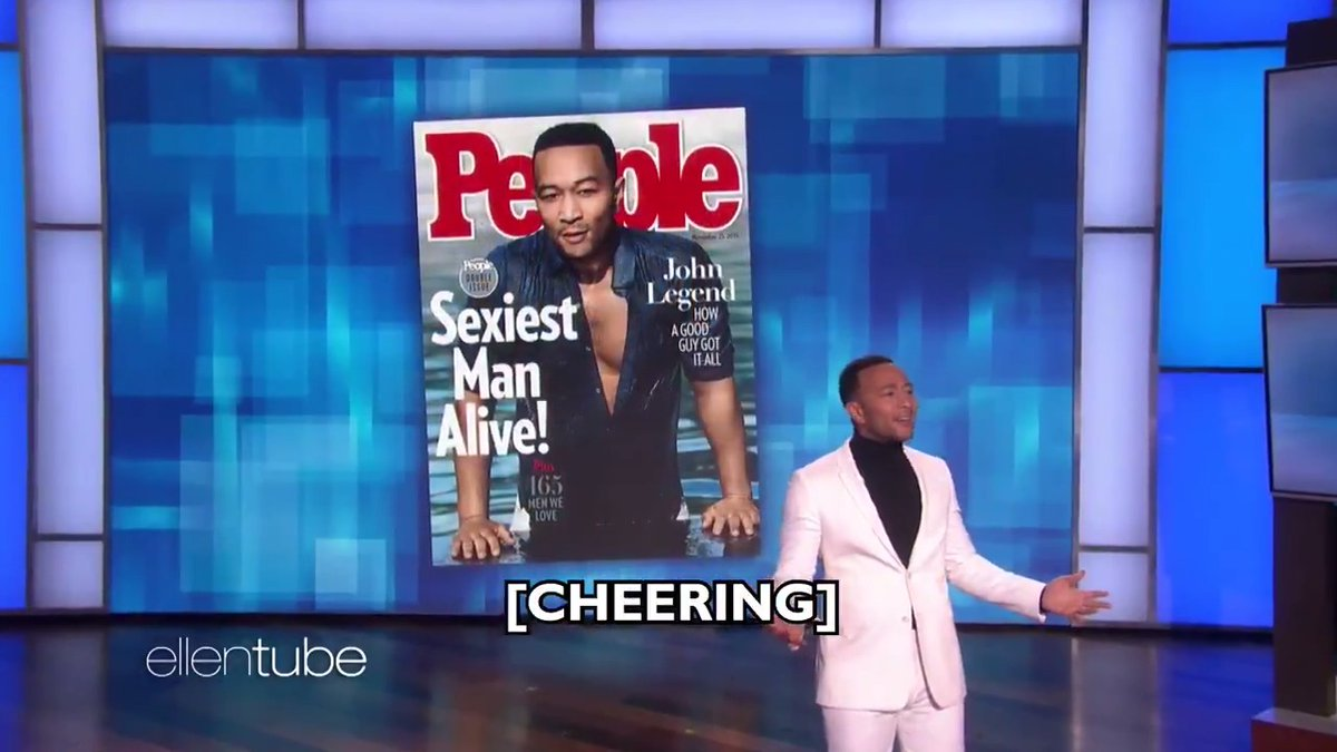 The #SexiestManAlive  was here and did the sexiest monologue ever. @JohnLegend