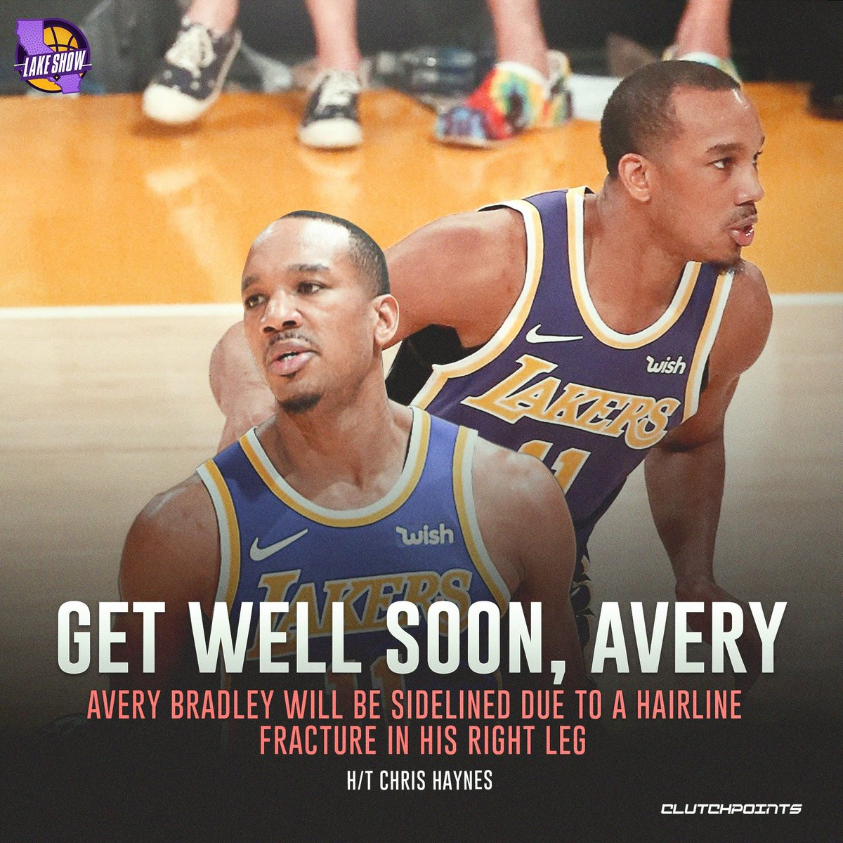 Prayers up for Avery Bradley 🙏  #Lakers #LakeShow