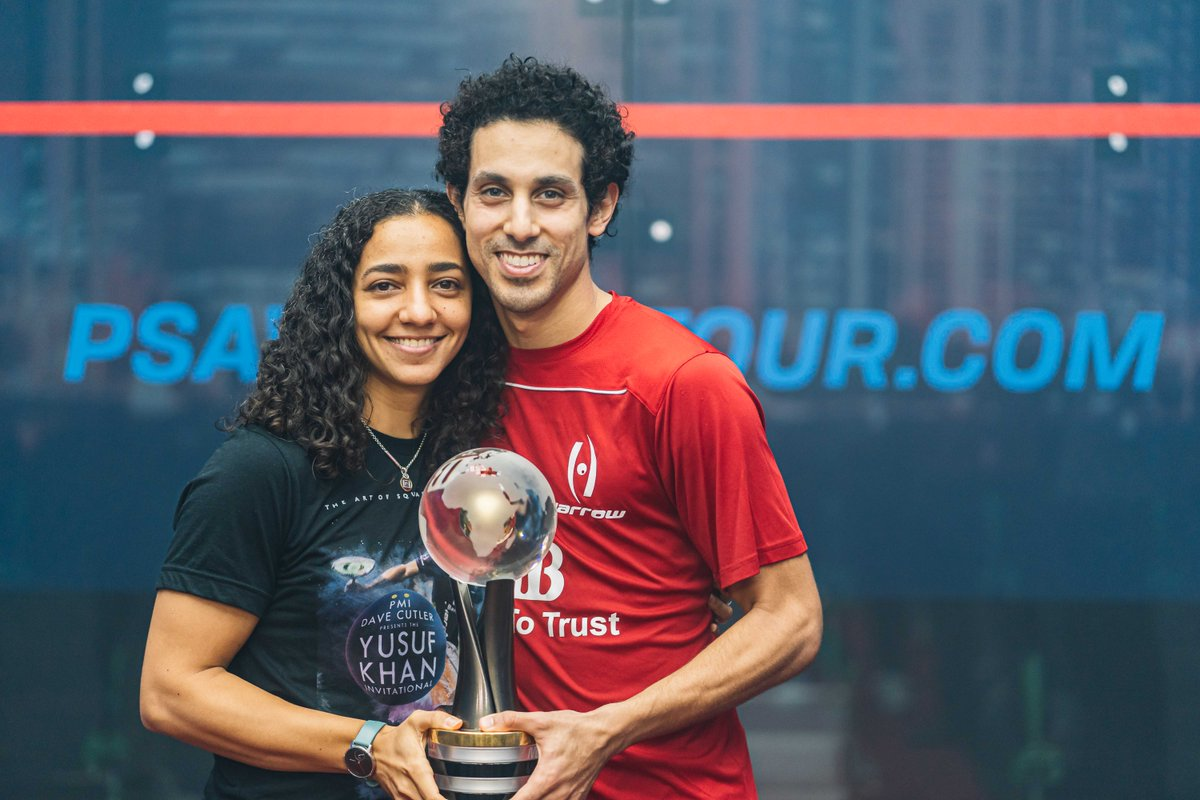 test Twitter Media - RT @PSAWorldTour: The first married couple in squash history to become World Champions 🏆  #CoupleGoals 😍 https://t.co/n0Bi5KpHRV