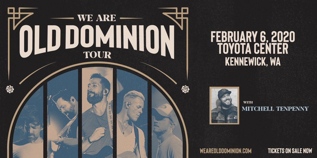 Washington! Tix for the show at @TheToyotaCenter in Kennewick are on sale now. See yall on Feb 6. Tix here bit.ly/2Qe0vsd