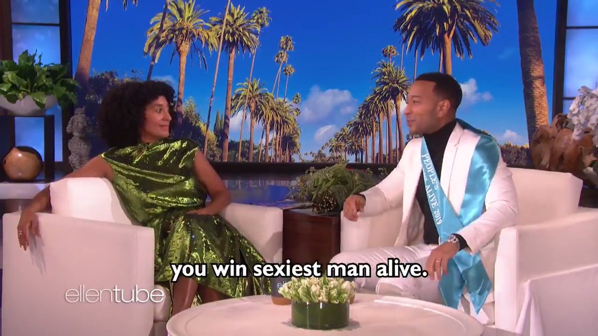 Heres just a handful of the reasons @JohnLegend  is the #SexiestManAlive . @TraceeEllisRoss
