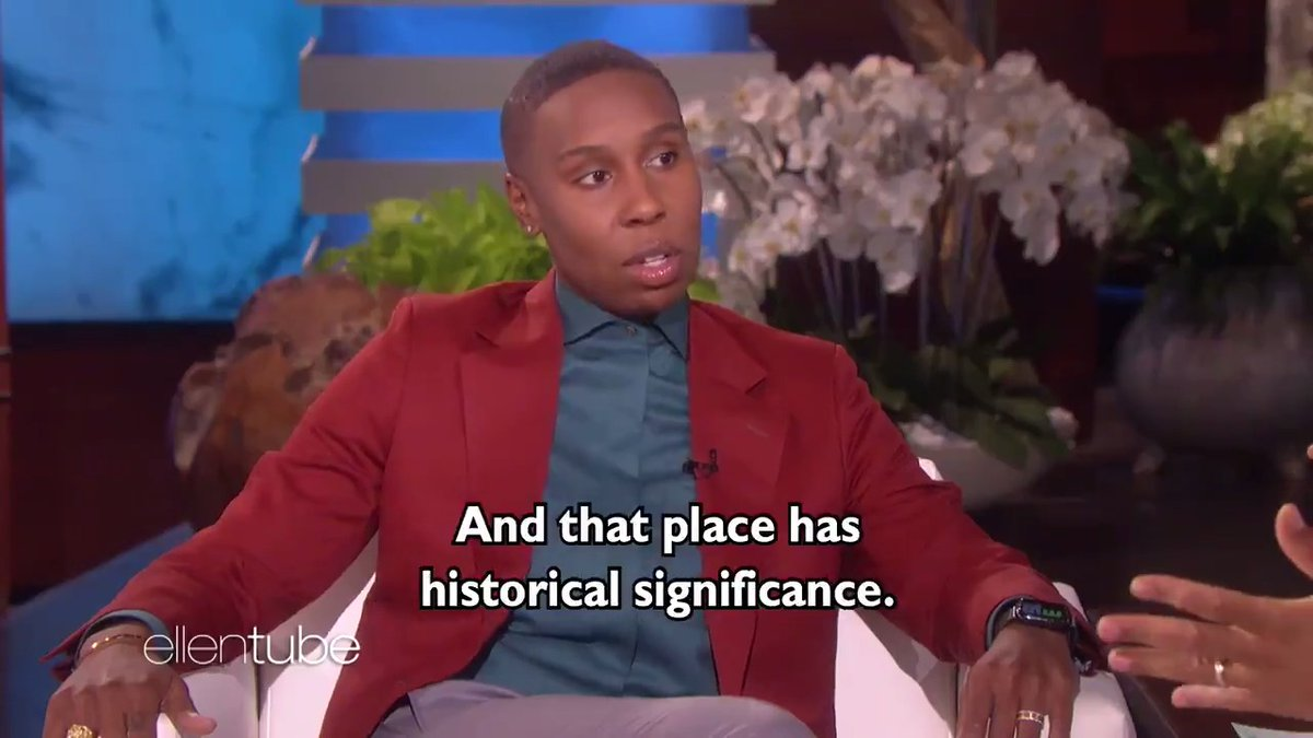 .@LenaWaithe  was here for the first time, and it will not be her last. Plus, she had news. @johnlegend