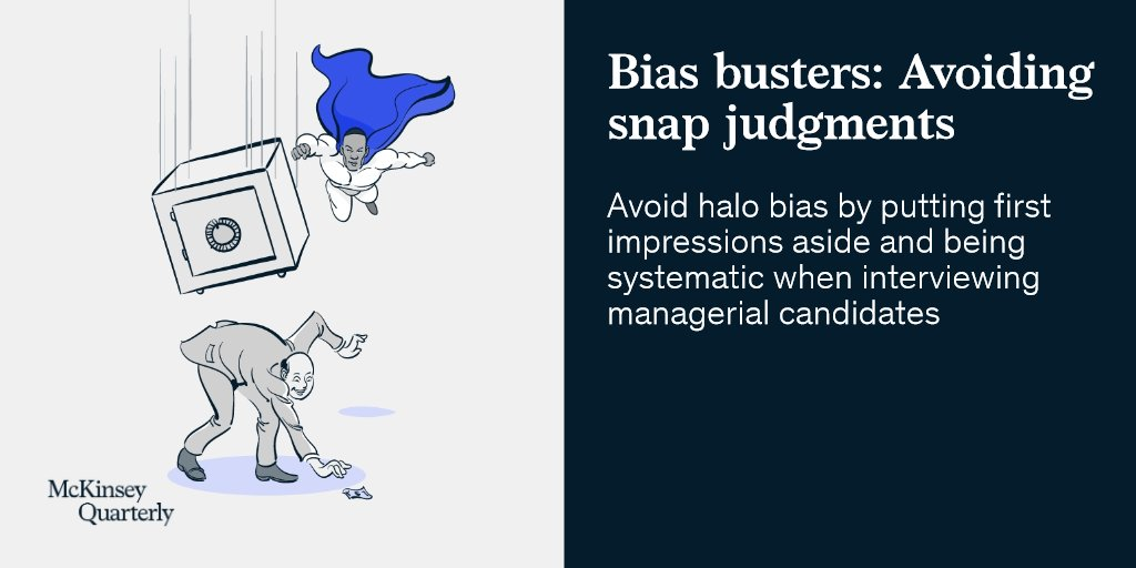 How to guard against the #halo effect and other biases that could cloud your #judgment: mck.co/2qjeYZ3 #strategy