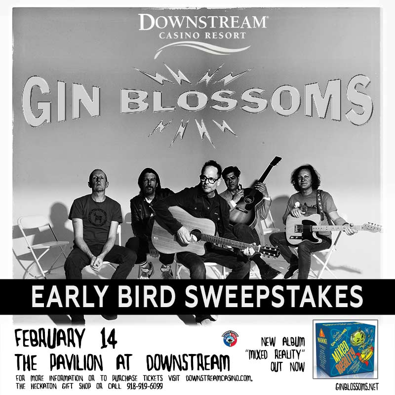 Go to our Facebook page and enter to win @ginblossoms tickets.