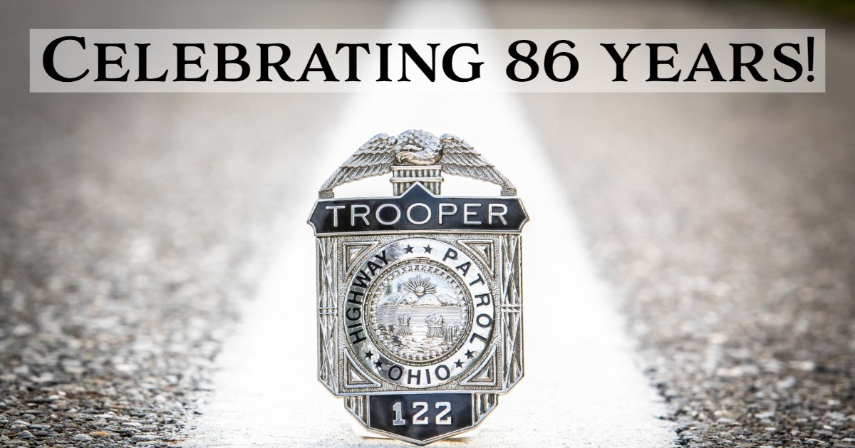 Happy 86th Birthday to the OSHP. Thank you to all the Troopers who help make the #OHTPK one of the safest roads in the nation!