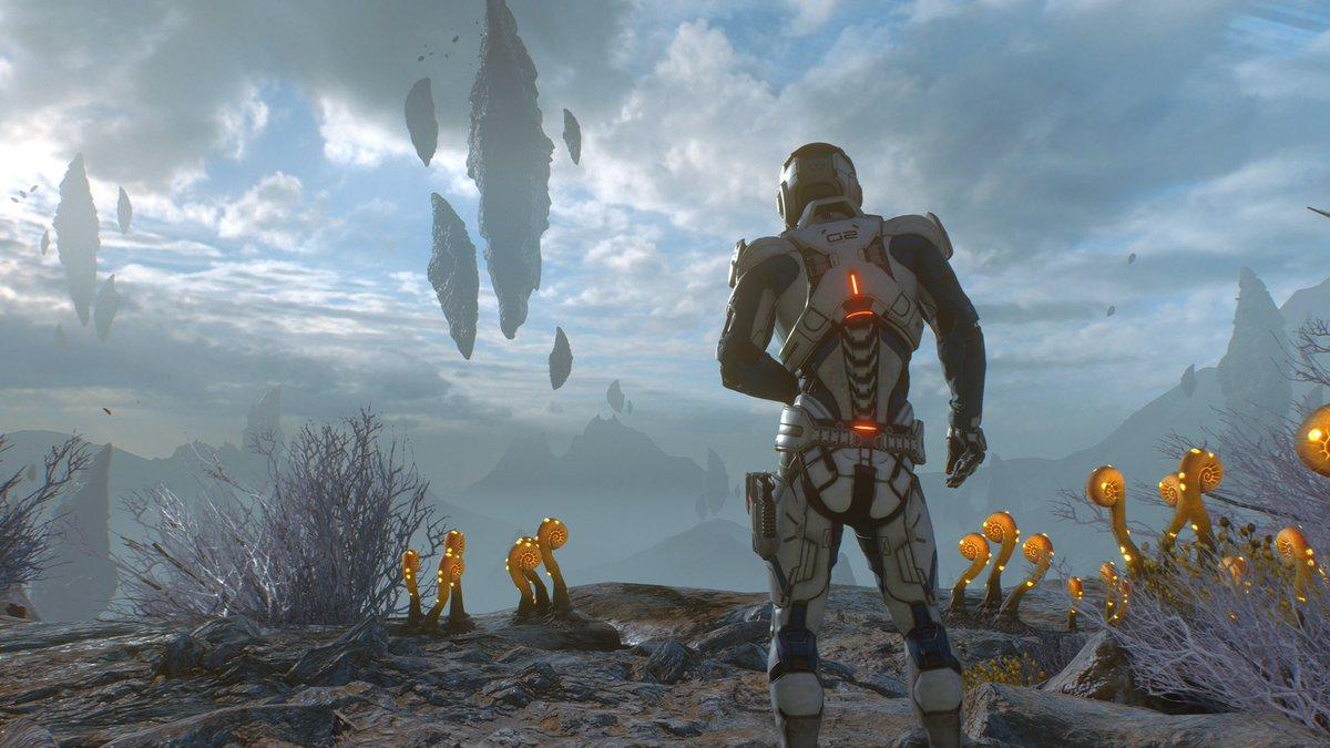 #N7Day Jugando a Mass Effect Andromeda en #XboxOneX se ve brutal. ¿Por qué se llevó tantos palos este juego? Me esta pareciendo genial.