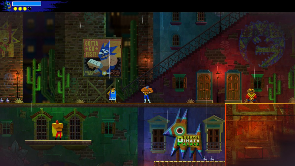More great #Guacamelee2 #EasterEggs!  These just scratch the surface, a lot of fun references #SonicTheHedgehog #SuperMario #StarWars #SchrodingersCat #Undertale