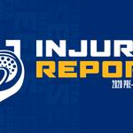 Image for the Tweet beginning: Injury Report: 2020 Pre-Season Week