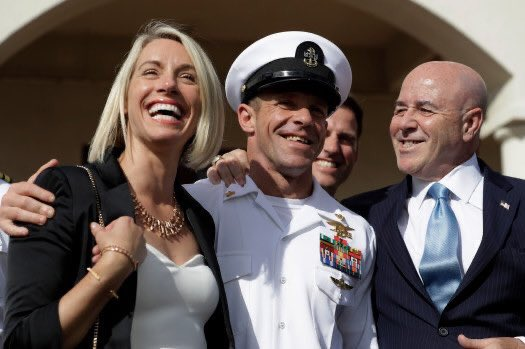 """I hope no one who serves our country and volunteers to do the unthinkable is  ever treated like this again! Great job @realDonaldTrump! """"US Navy SEAL Eddie Gallagher has had his rank restored by President Trump"""""""