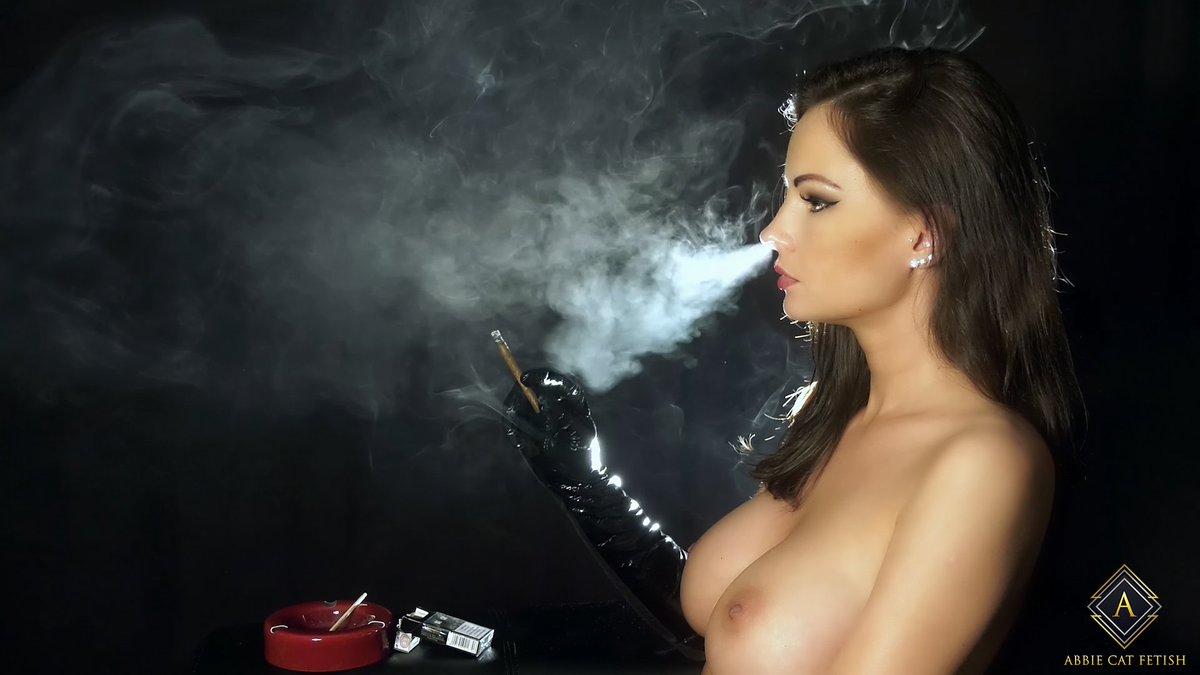 Hottest candid smoking fetish photo