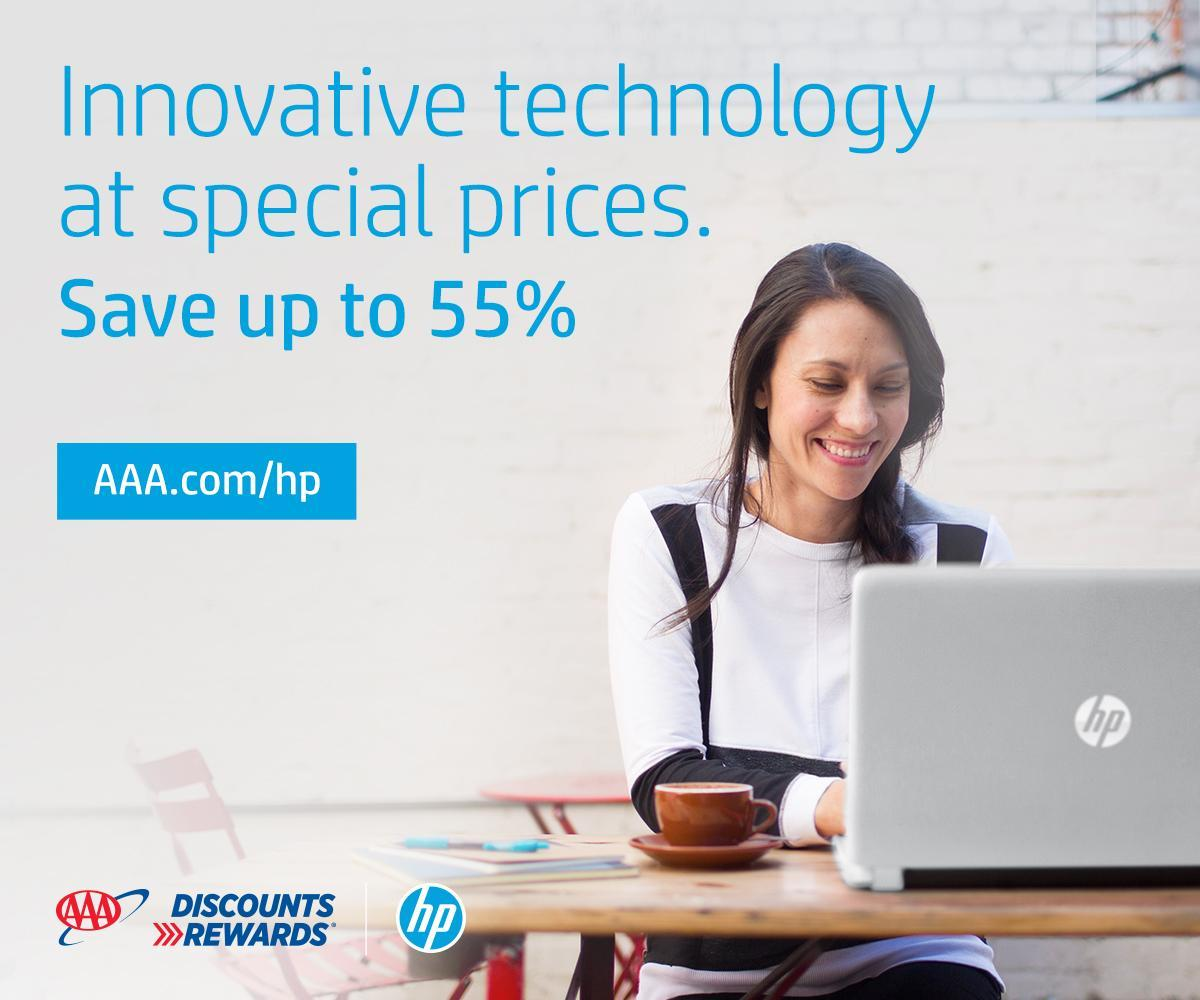It's #FeaturedDiscountFriday, get a head start on your holiday shopping!    Use your #AAADiscounts to save up to 55% off @HP products during the Pre-Black Friday and #BlackFriday sales events happening now through November 30, 2019.    #AAADiscounts