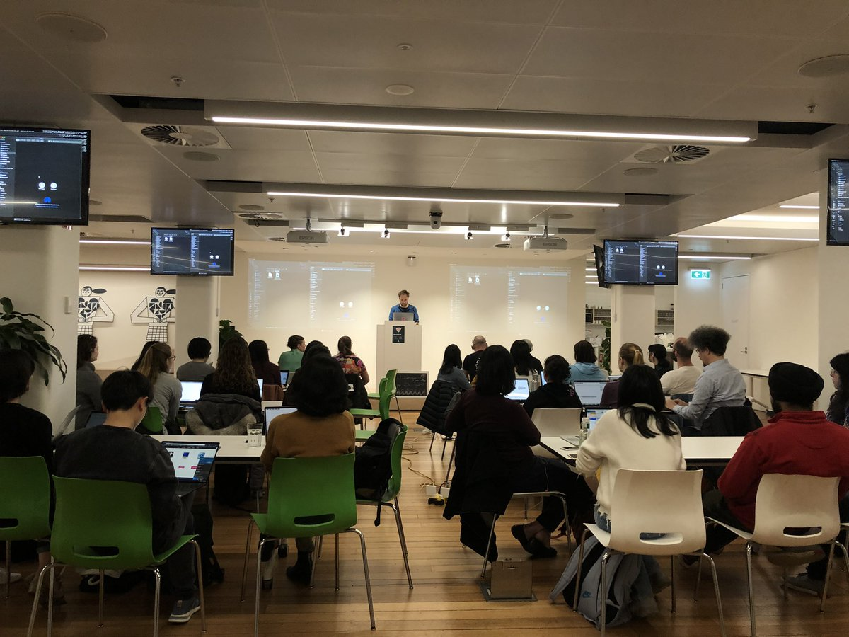 """""""Don't play to win, play to learn.""""  Creative coding at its apex - time to tinker some synthy beats with @samaaron and @WWCodeMelbourne    @Zendesk Melbourne office is LIT this fine Saturday morn   #WomenWhoCode #CreativeCoding<br>http://pic.twitter.com/t5scgm4G0q – à Zendesk HQ"""
