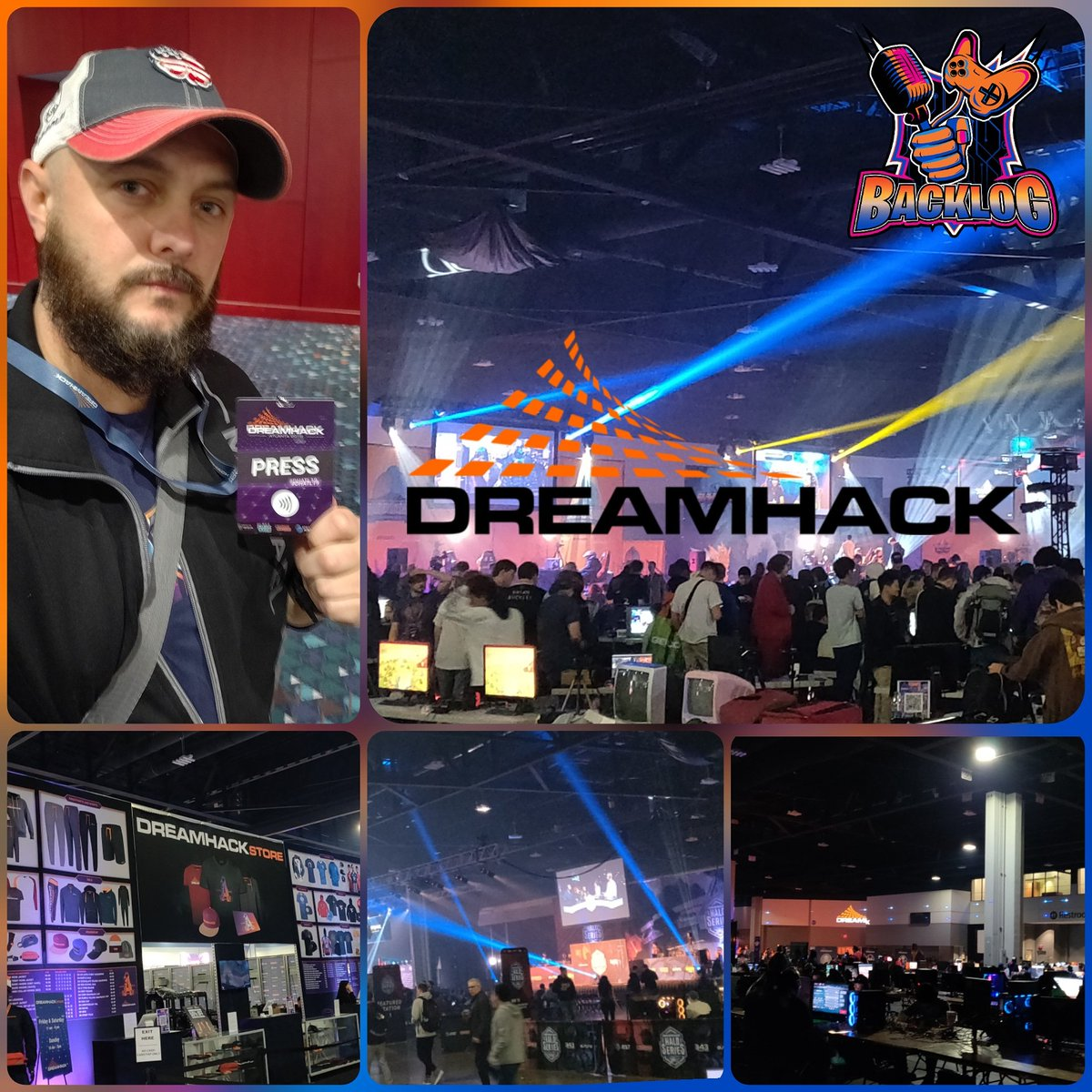 Day 1 #dreamhack #atlanta - pretty impressive spread. Got 3d mapped by AT&T and found out Geico has a gaming division. Finally met up with @Icychiller54 at the @Dreamhack @halo series