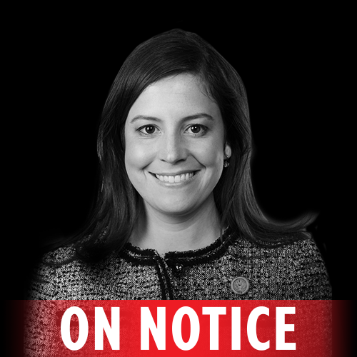 Rep. Elise Stefanik (NY-21) voted to undermine equal pay protections for women, voted for the House Republican health care plan to kick 23 million people off their insurance, and repeatedly voted to defund Planned Parenthood. That's why we put her ON NOTICE.