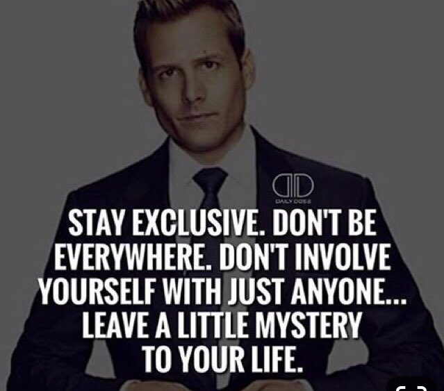 #stayexculsive #dontbeeverywhere #mystery #leavealittlemystery #harveyspecter #whatwouldharveydo #suits pic.twitter.com/tgkcsqryEc