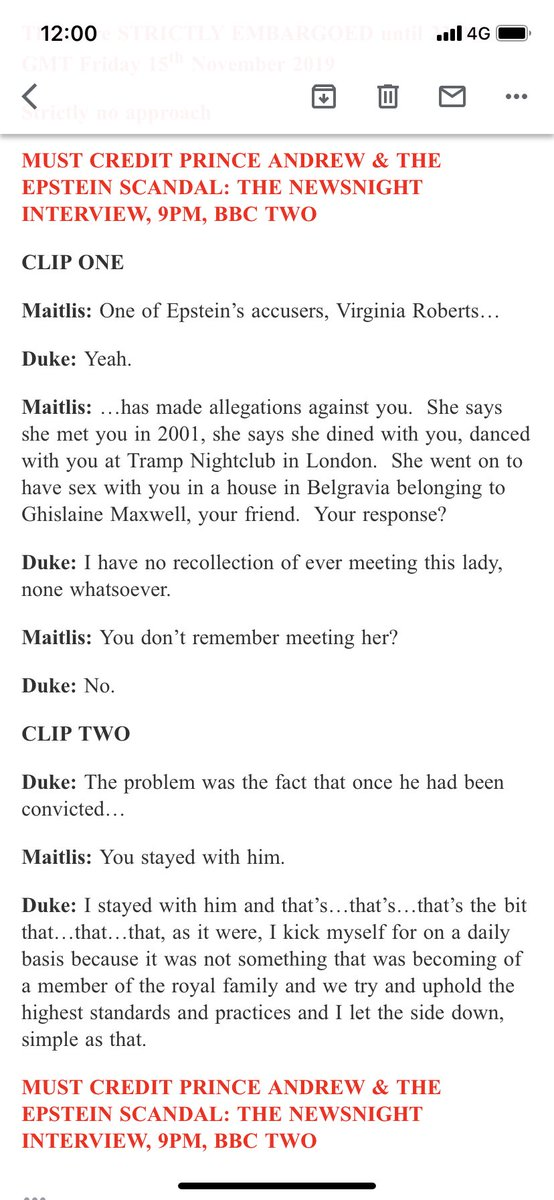 NEW: Here's the script from the two clips BBC Newsnight releasing <br>http://pic.twitter.com/sXr4812Fdd
