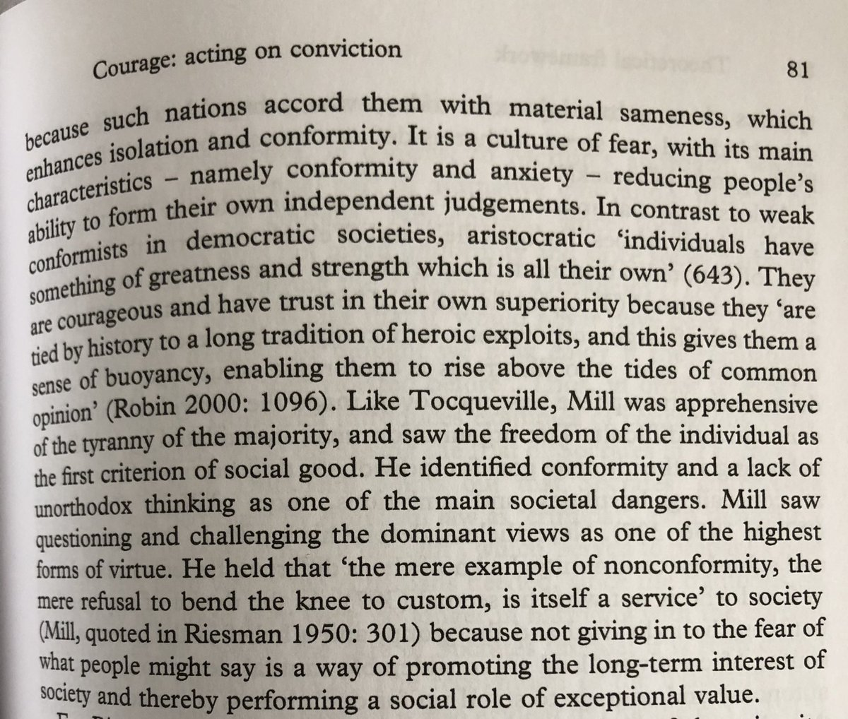 Freedom, anxiety, fear and compliance - the tense string of terms, brought up by Misztal (2007), urging to rethink #creativity #courage, virtues shaped by #intellectuals for #publicgood. More than important in modern #highered @DrLizJackson @charles_mathies
