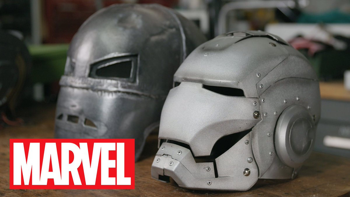 .@AgentM, visits Adam Savage (@donttrythis)s workshop where he shows off his Marvel Cinematic Universe props collection, including #IronMan helmets, #CaptainAmericas suit, and #Thors hammer! #EarthsMightiestShow