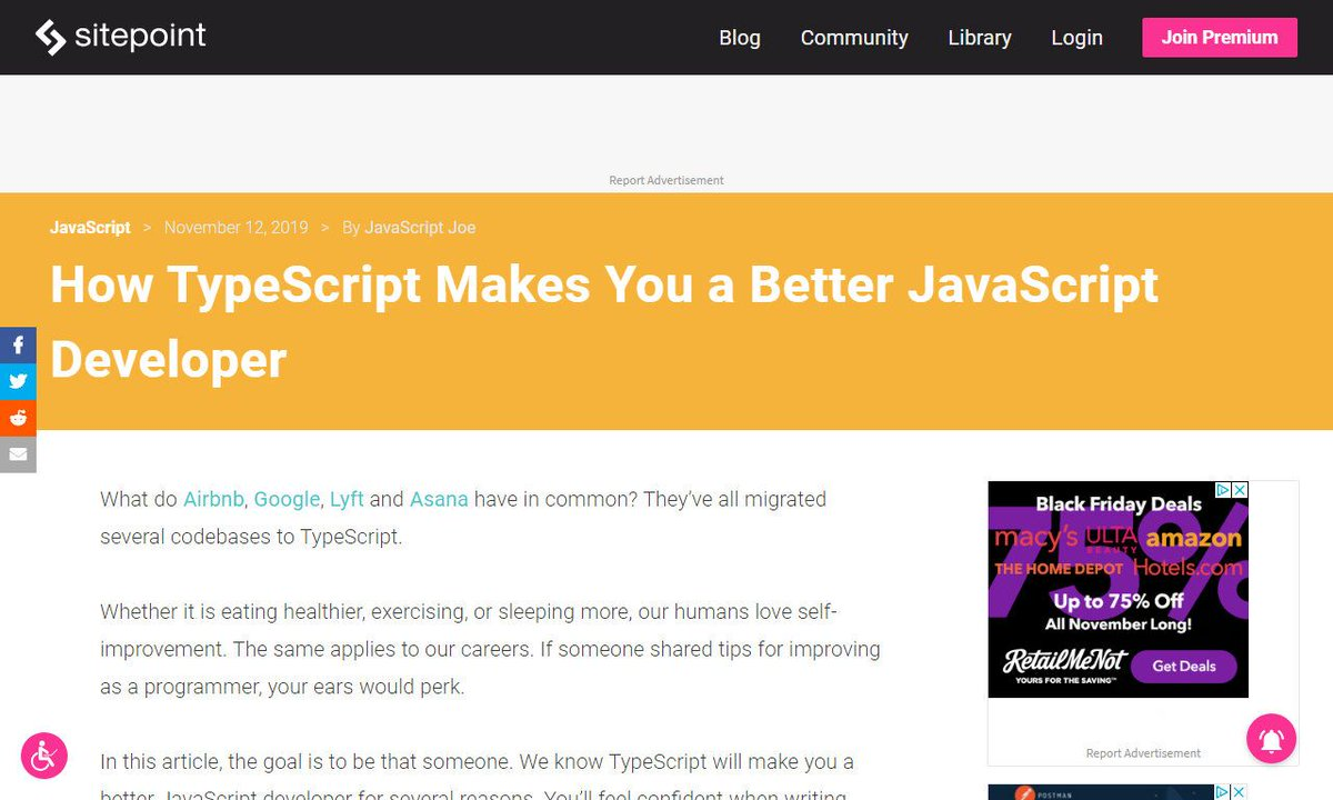 How TypeScript Makes You a Better JavaScript Developer#javascriptdeveloper #color #javascript #name #user #developmentvia http://sitepoint.com ☛ http://amp.gs/skJe