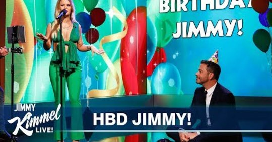 (WATCH) Maren Morris Performs Custom Happy Birthday Song for Jimmy Kimmel