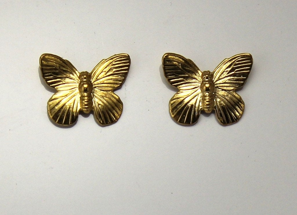 """Thanks for the kind words! ★★★★★ """"My gold butterfly earrings are beautiful and perfectly made. Thank you Laura for the fast shipping, I look forward to wearing out soon!"""" Elysia G. https://etsy.me/35ahfEX #etsy #jewelry #earrings #silver #animal #animals #gold #brass #"""