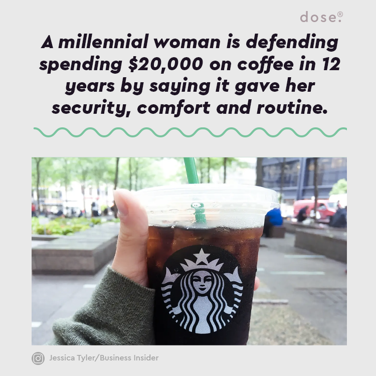 In response to financial expert Suze Orman saying this week that buying coffee daily was like 'peeing a million dollars down the drain,' graduate student Mae Rice wrote a Vox essay entitled, 'The Best $20,000 I've Ever Spent: Starbucks Every Day of My Adult Life.'