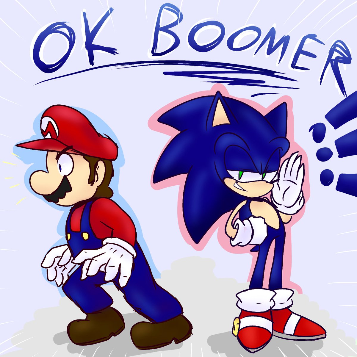 Mario and sonic lol#SuperMario #SonicTheHedgehog