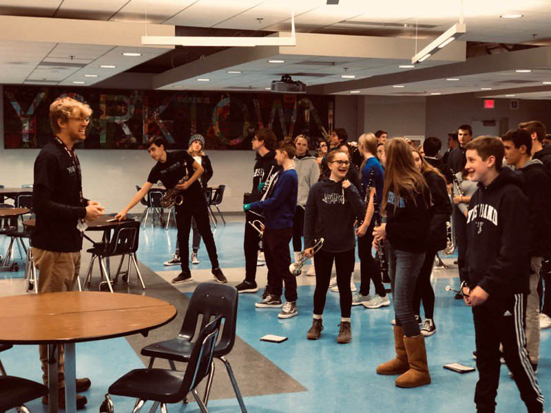 YHS Marching Band is ready to help the Patriots to victory.<a target='_blank' href='http://twitter.com/YorktownHS'>@YorktownHS</a> <a target='_blank' href='http://twitter.com/yhssports'>@yhssports</a> <a target='_blank' href='http://twitter.com/YorktownAPs'>@YorktownAPs</a> <a target='_blank' href='http://twitter.com/Principal_YHS'>@Principal_YHS</a> <a target='_blank' href='http://twitter.com/YorktownSentry'>@YorktownSentry</a> <a target='_blank' href='http://twitter.com/yorktownbands'>@yorktownbands</a> <a target='_blank' href='http://twitter.com/APSVirginia'>@APSVirginia</a> <a target='_blank' href='https://t.co/o0avOcaUz9'>https://t.co/o0avOcaUz9</a>