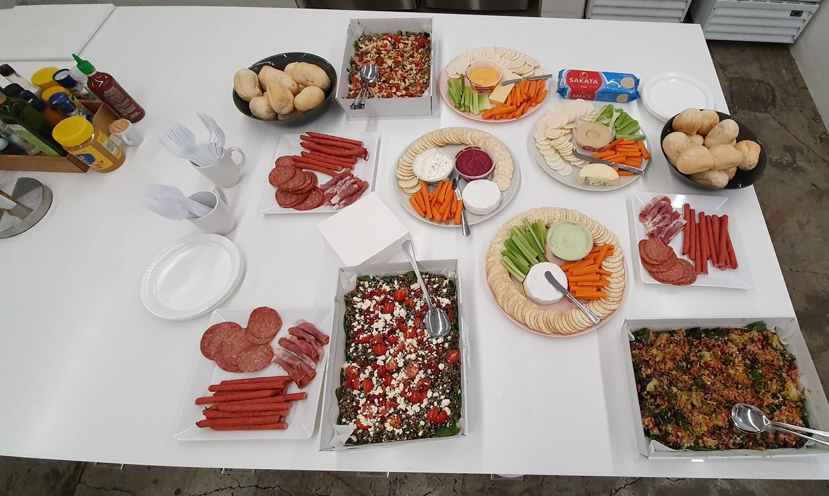 And it's lunch time! We really do pride ourselves on our catering    No pizza or beer in sight! @WomenWhoCode <br>http://pic.twitter.com/tBowaD6tgy
