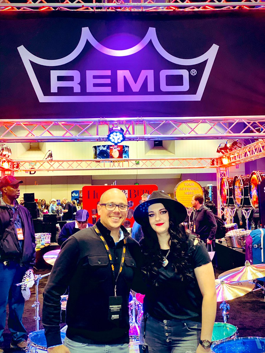 Thanks so much for supporting @Bccsi! Our Director of Sponsorship & Corporate Relations @michelleEgraves met with Brian LeVan with #Drummathon2019 #sponsor @remopercussion at @PASIC 🤘🏻 📸 by: @fotogrldg #PASIC19 #NeverNotWorking #FridayFeeling
