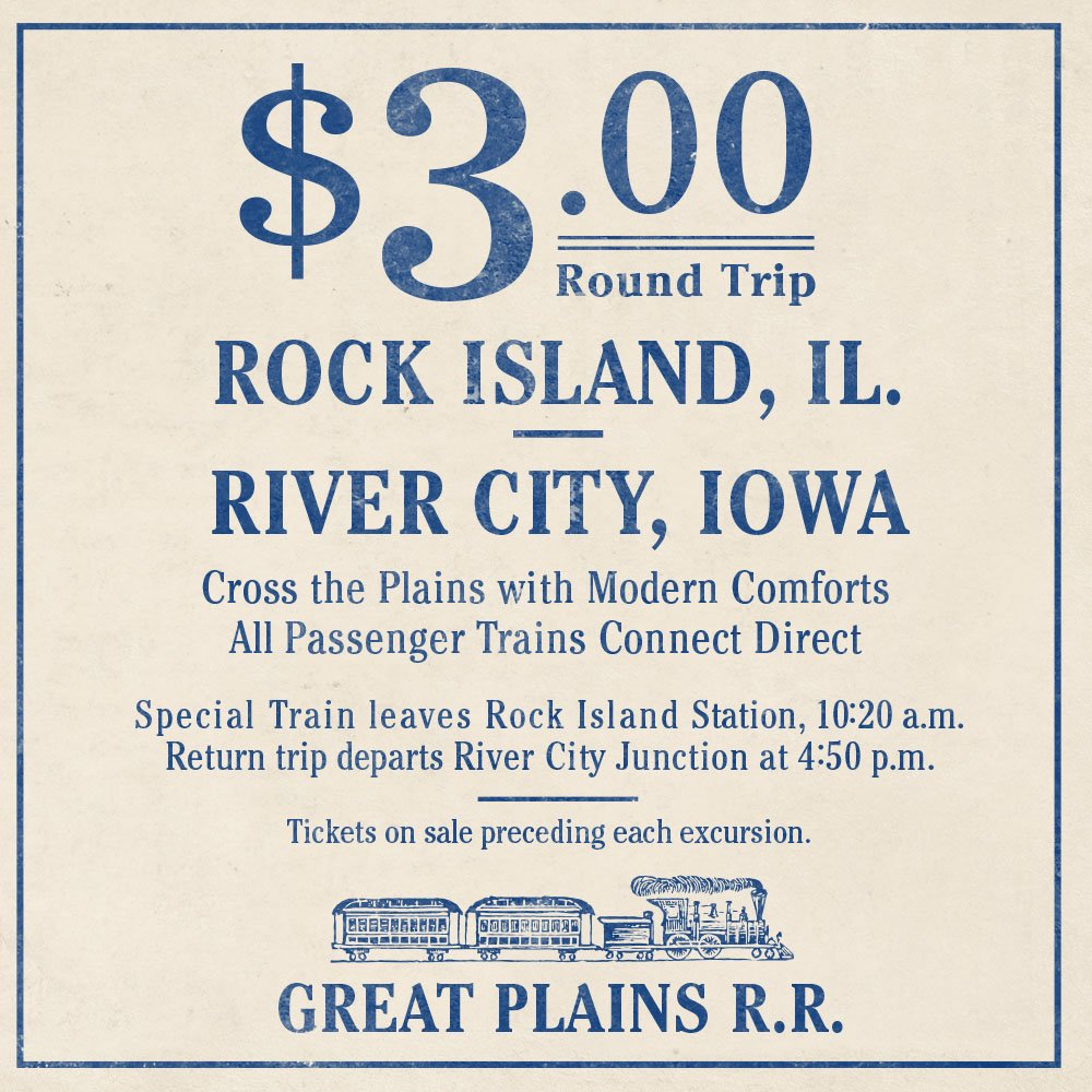 Tickets on sale preceding each excursion. #TheMusicManBroadway