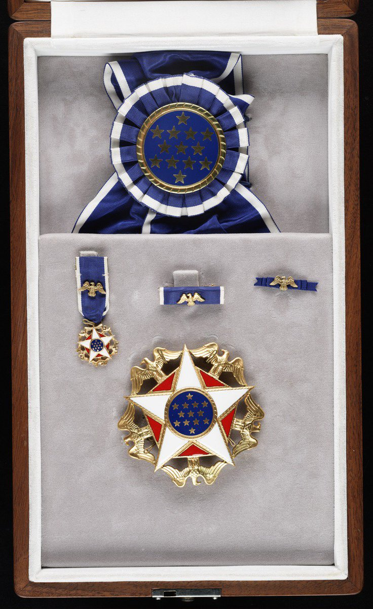 Presidential Medal of Freedom presented to Georgia O'KeeffeFrom: Stieglitz / O'Keeffe archive  https://bit.ly/2FjcRbp