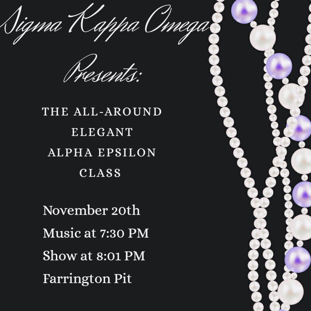 Come join us for our new member presentation to reveal our All around Elegant Alpha Epsilon class Hope to see YOU there  #shsu #shsu22 #shsu23 #sigmasweethearts #probateszn<br>http://pic.twitter.com/M30Lf7iqwt