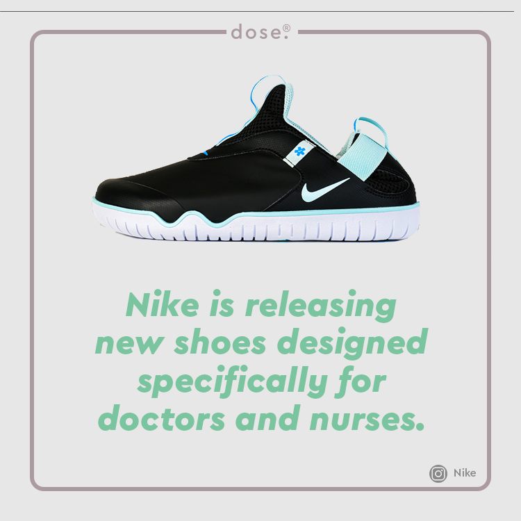 The company says that the shoes, called Nike Air Zoom Pulses, are made for, 'everyday heroes: nurses, doctors, home health providers and others who work tirelessly to support patients.'