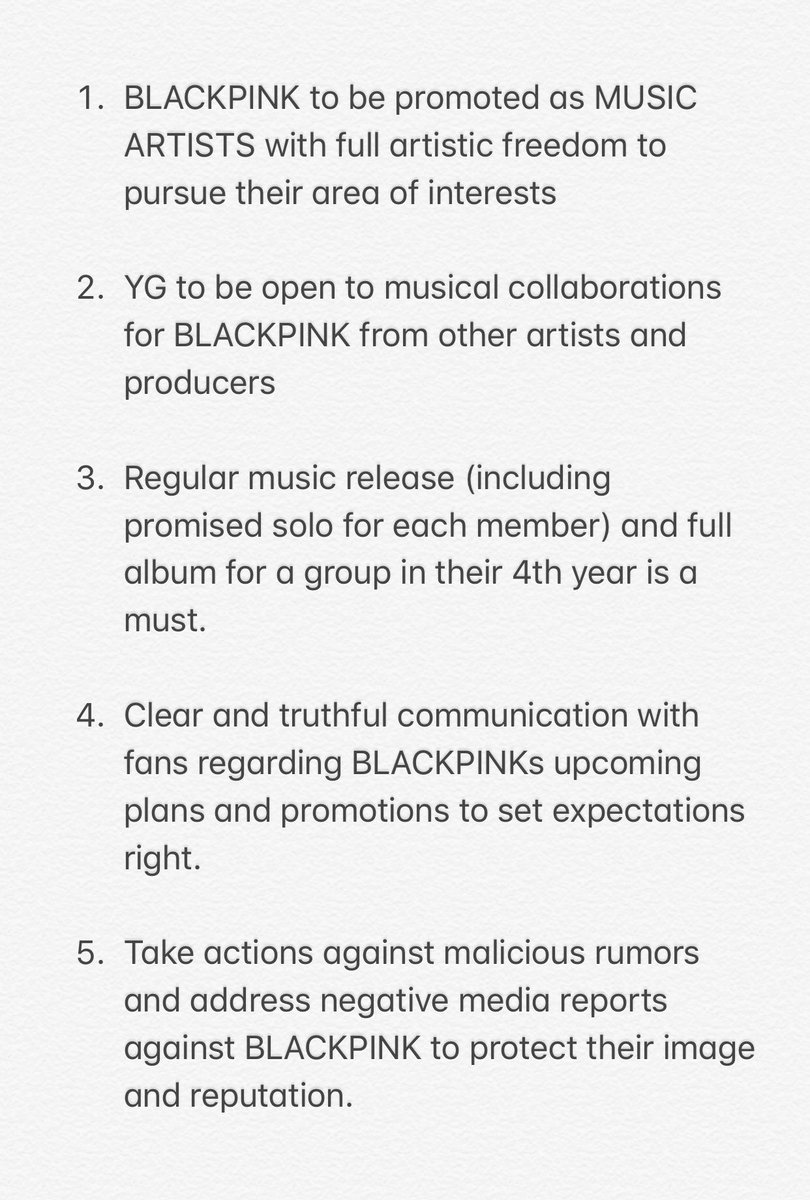anyways, this is the changes I want to see from you @ygent_official #BlinksCallOutYG