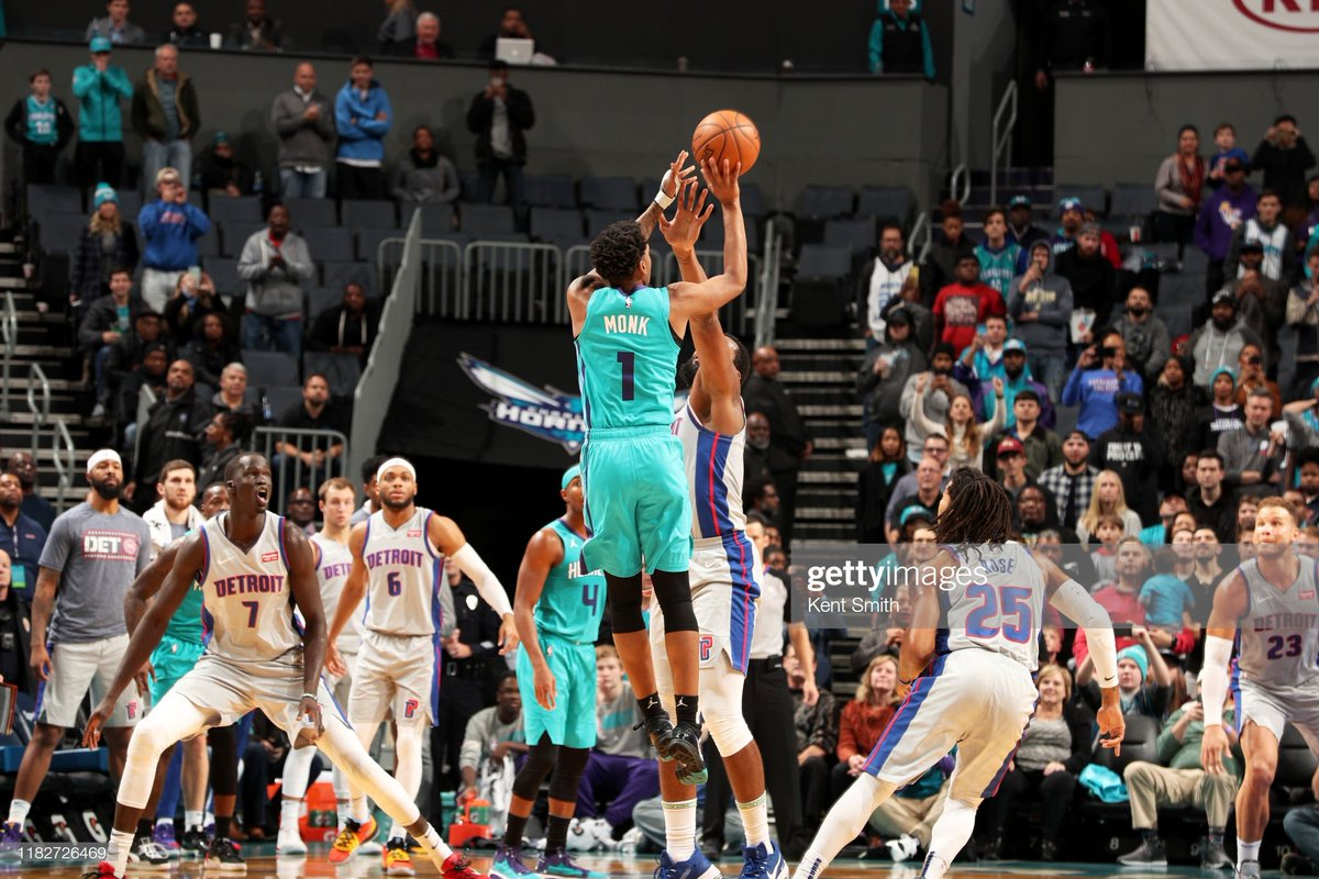 Malik Monk (19 PTS) drills the #TissotBuzzerBeater 3-pointer to defeat the visiting Pistons!  #DetroitBasketball 106 #AllFly 109  Terry Rozier: 19 PTS, 5 REB, 3 STL Devonte Graham: 18 PTS, 10 AST  Andre Drummond: 16 PTS, 20 REB  #NBA