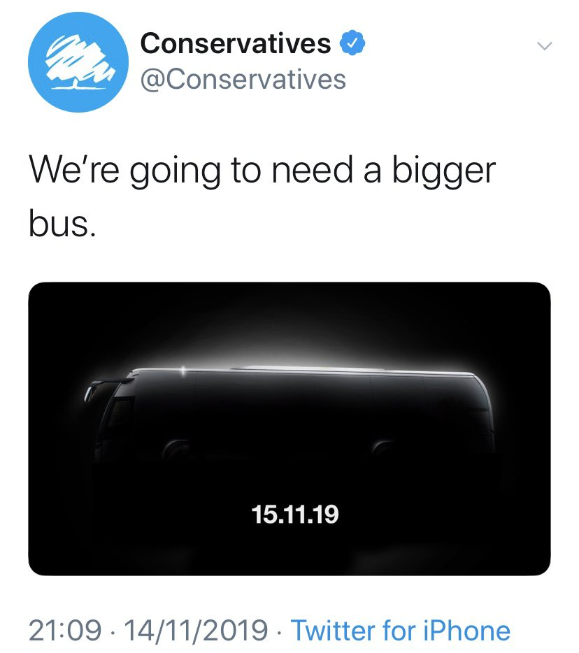 Someone found the bigger bus the Tories requested. They've been in govt for nearly a decade. Can you honestly say this country is in a better state now than in 2010? #MakeItStop #DitchTheTories #RejectBrexit #TacticalVoting #GE2019<br>http://pic.twitter.com/DritxRxNpI