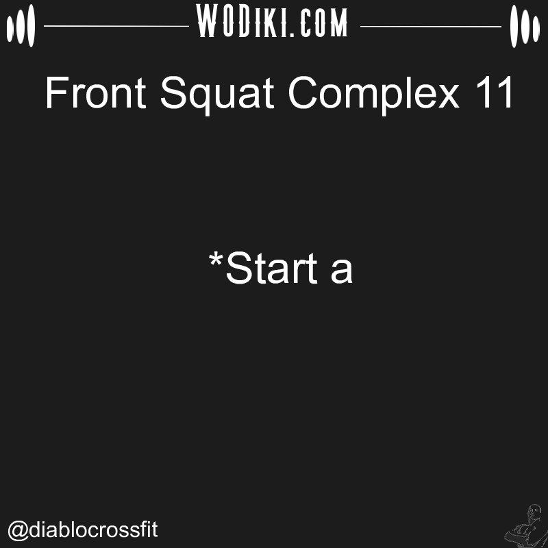 WOD 11.15 by @diablocrossfit  What seems to us as bitter trials are often blessings in disguise #crossfitaddict #frontsquat