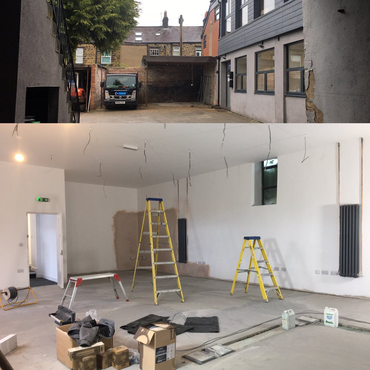 New office space coming together nicely. Two weeks to go...