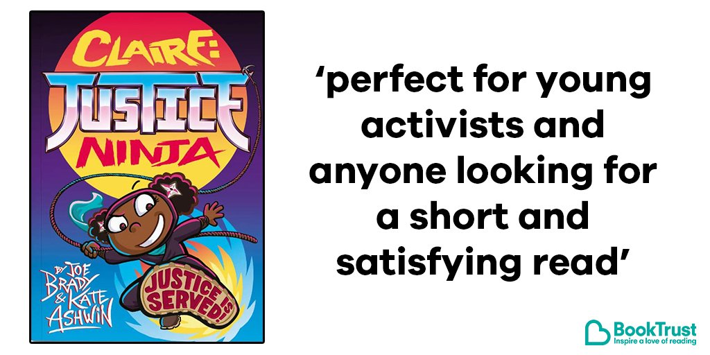 Our #BookOfTheDay is another great choice for budding activists - @josephobradys fun comic book Claire: Justice Ninja. Claire is a cool kid who wants to right all the wrongs she sees! Illustrated by @KateDrawsComics. bit.ly/32GINjH @phoenixcomicuk