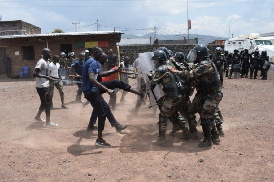 #IndianArmy #Peacekeepers participated in joint training on Riot Control at Goma in DR #Congo with Senegal Formed Police Unit. The training was aimed to assist administration in maintaining law and order in the area.#UnitedNation