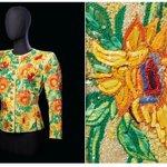 Image for the Tweet beginning: #YvesSaintLaurent created this 'Sunflowers' jacket