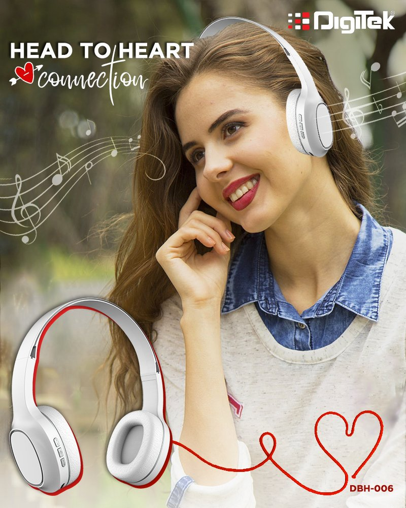 Fall in love with melodious beats that sets right from the soft earpads. Shop here http://bit.ly/DBH006#WirelessHeadphones #Music #BluetoothHeadphones #MusicLover #BassSound #SaturdayMotivation #SaturdayMotivation #weekend #weekendvibes #headphones #Digitek #NoiseCancellation