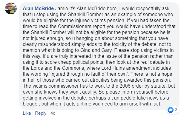 Jamie strikes again, all the way from Donaghadee. Fair play to Alan McBride 👍