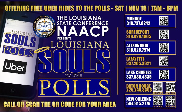 #Louisiana Big Election TODAY #GeauxVote ⏰ Polls open 7am-8pm 📍Confirm your polling location: IWillVote.com 📜 See your ballot before you go: headcount.org/your-ballot/ #lagov #lalege #LSUvsOleMiss #LSU #Vote #SaturdayMorning #SaturdayMotivation #Saturdaythoughts