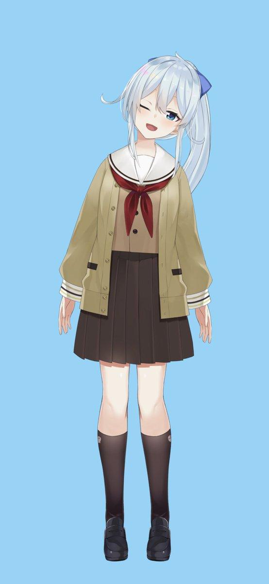 🌐『___せんぱい、待ちました?』💫みなさんお待ちかねの『制服』!学校では動きやすいようにポニテにしてます✨早く見せたくてたまらなかったのでこれからたくさん着ますね!