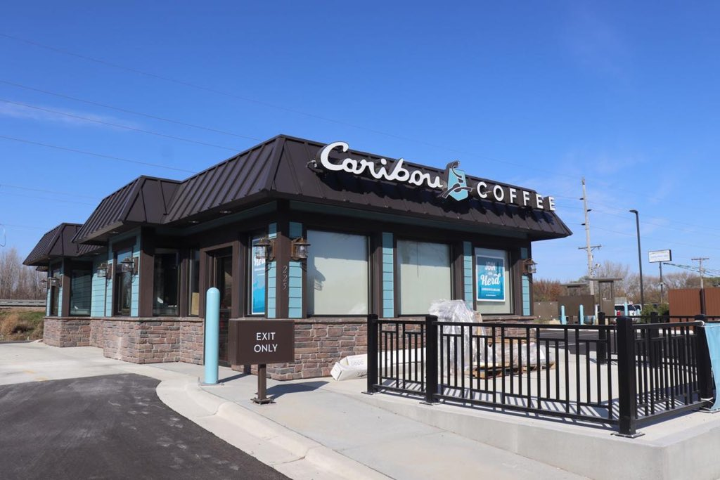 """Join us at Caribou's first ever little blue """"Cabin"""" store this weekend in Jordan, Minnesota and be a part of a special giveback! We're giving back to the @JordanBooster Club which supports, encourages and advances youth activities in the Jordan School District. #WelcomeToTheCabin"""