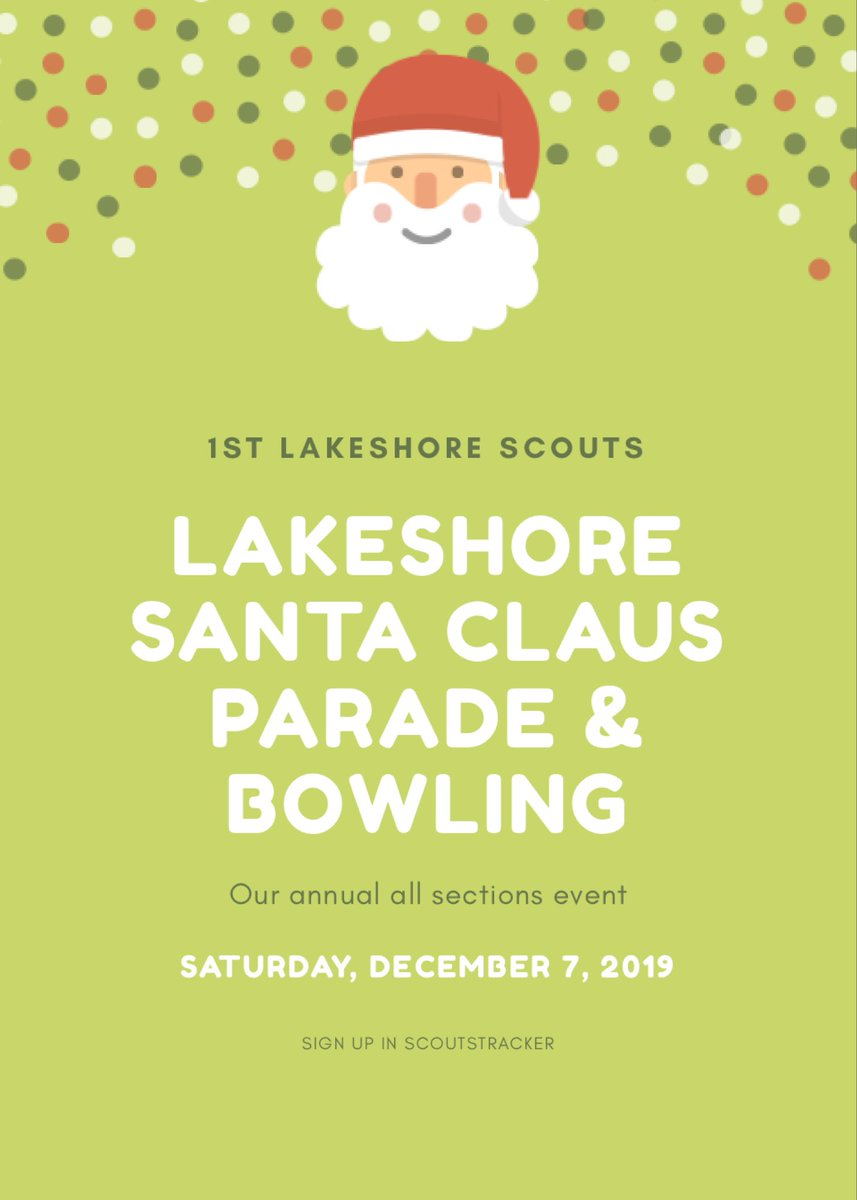 Annual all sections #LakeshoreSantaClausParade and #Bowling event is December 7! Registration forms available on Scoutstracker. @scoutscanada @TorontoScouts #ScoutsDoStuff #ItStartsWithScouts @lakeshorebia @LongBranchTO @LongBranchBIA @MimicoByTheLake